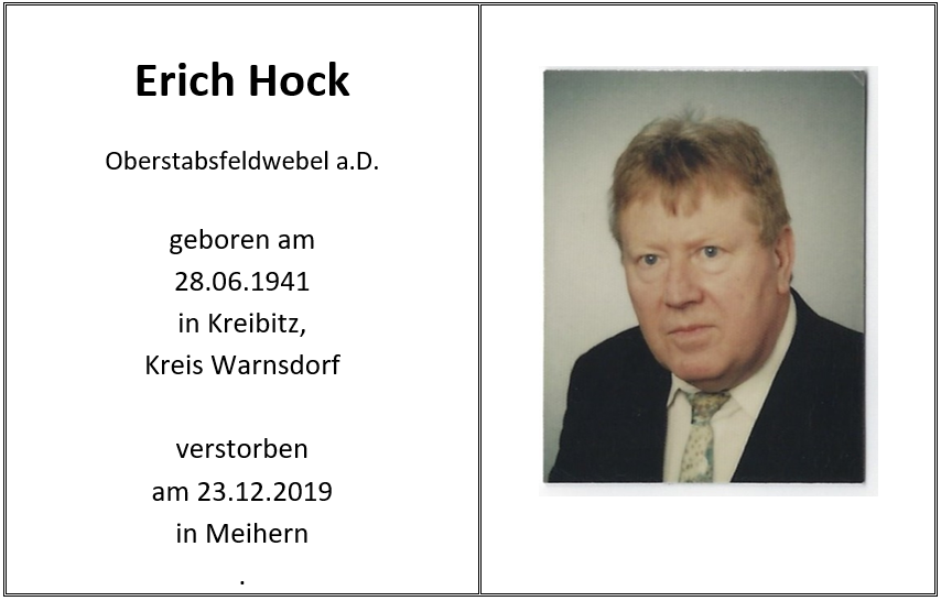 Sterbeblatt Erich